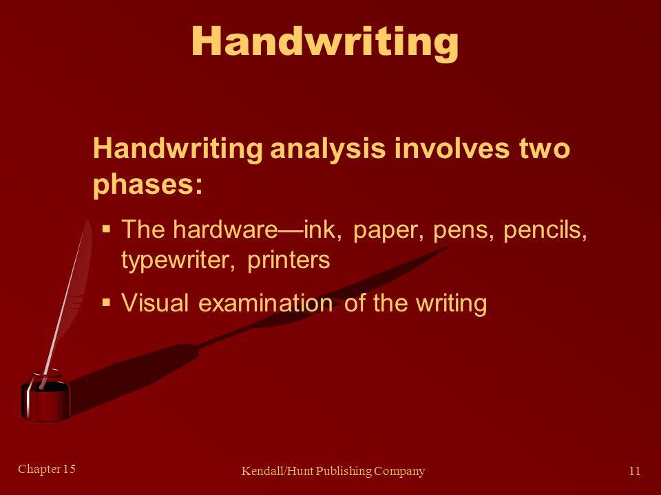 Handwriting Characteristics