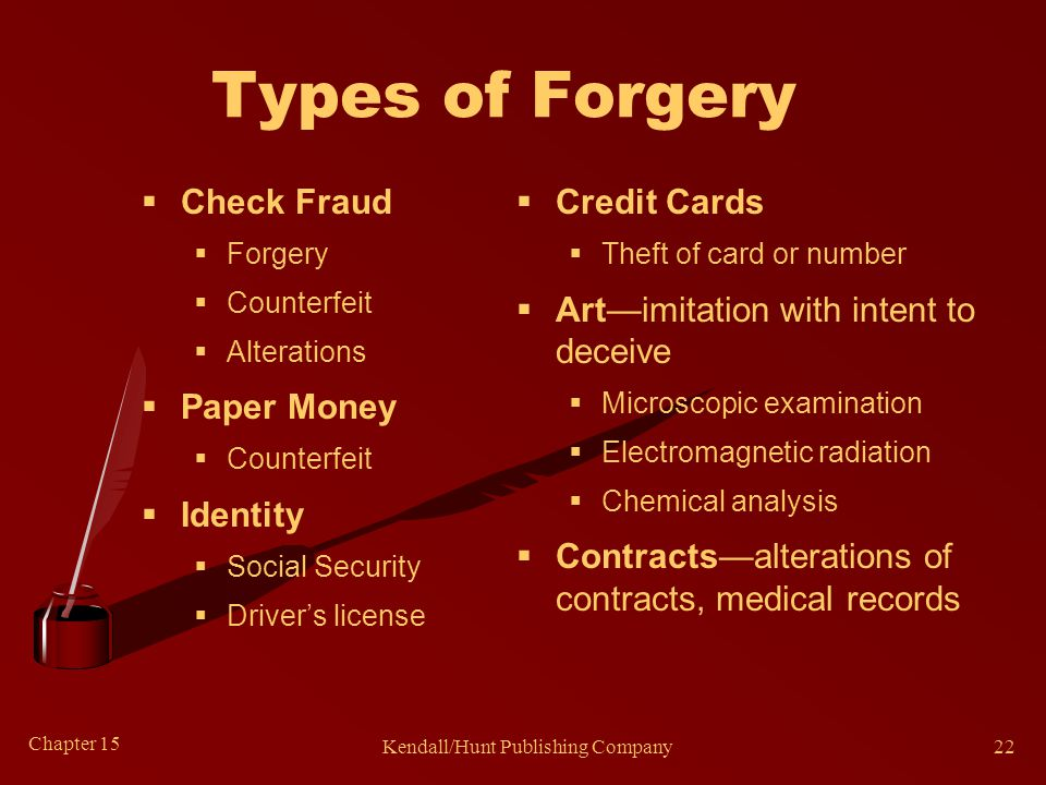 Common Clues of Forgeries