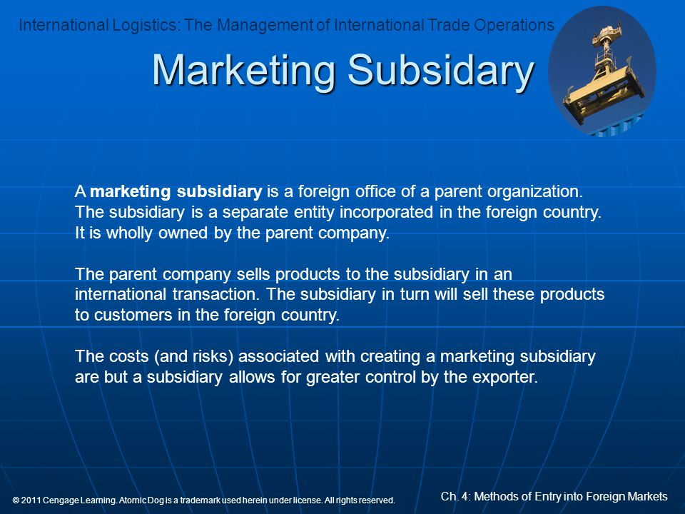 Marketing Subsidary