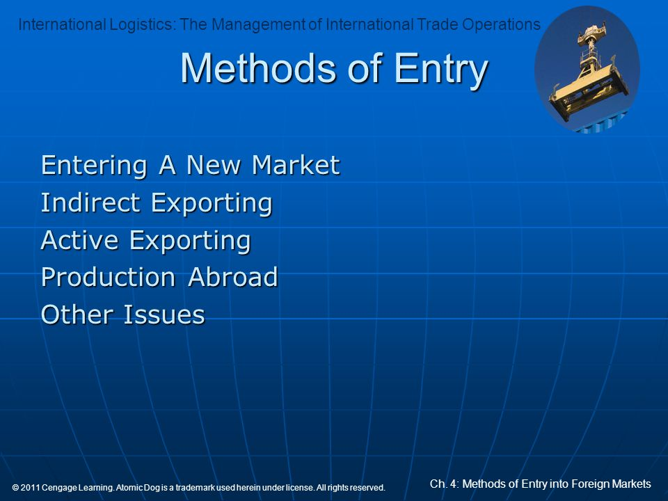 Methods of Entry Entering A New Market Indirect Exporting