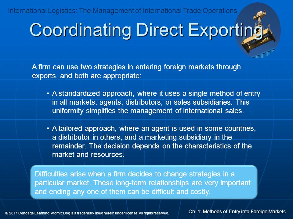Coordinating Direct Exporting