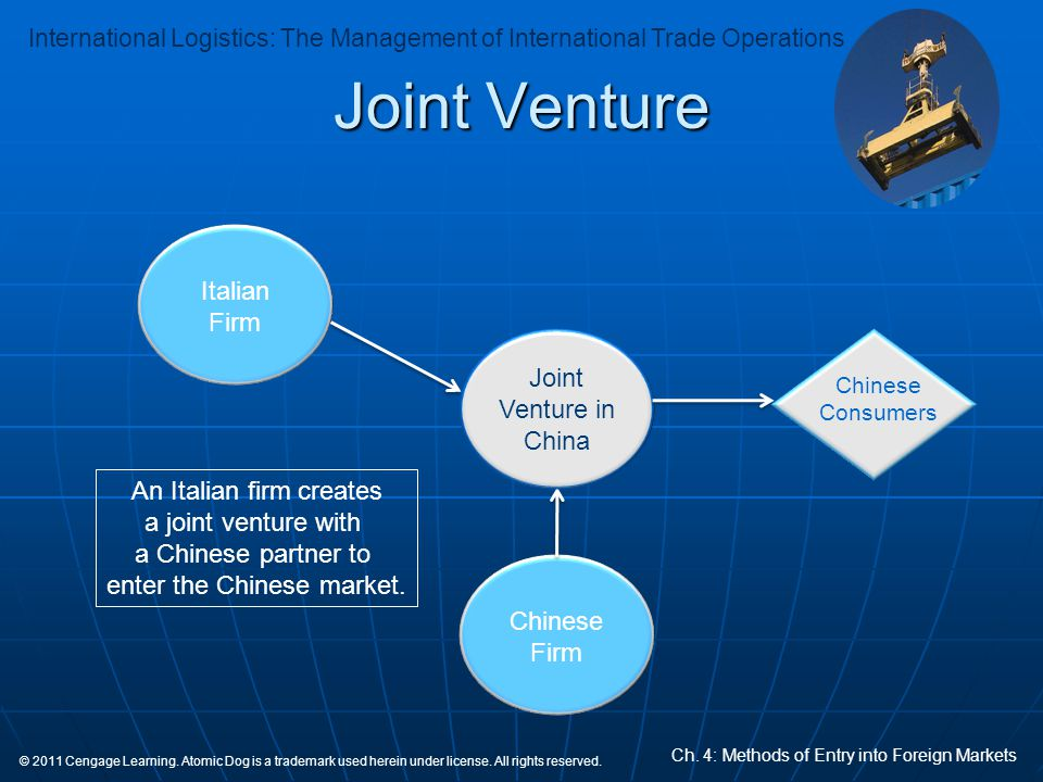 Joint Venture Italian Firm Joint Venture in China