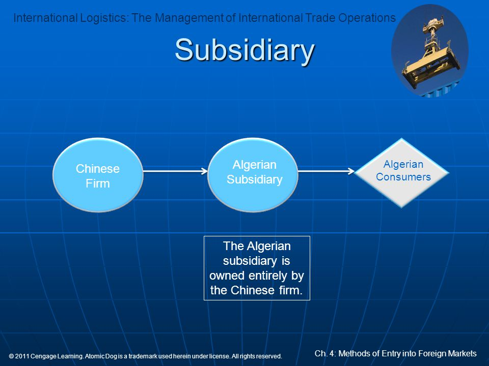 The Algerian subsidiary is owned entirely by the Chinese firm.