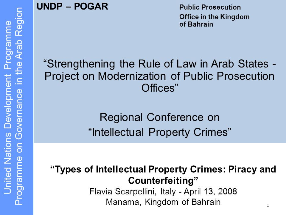Types of Intellectual Property Crimes: Piracy and Counterfeiting