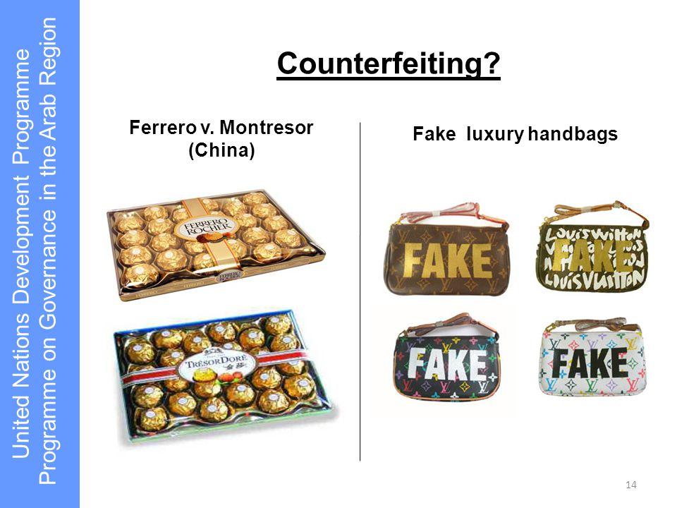 Ferrero v. Montresor (China)