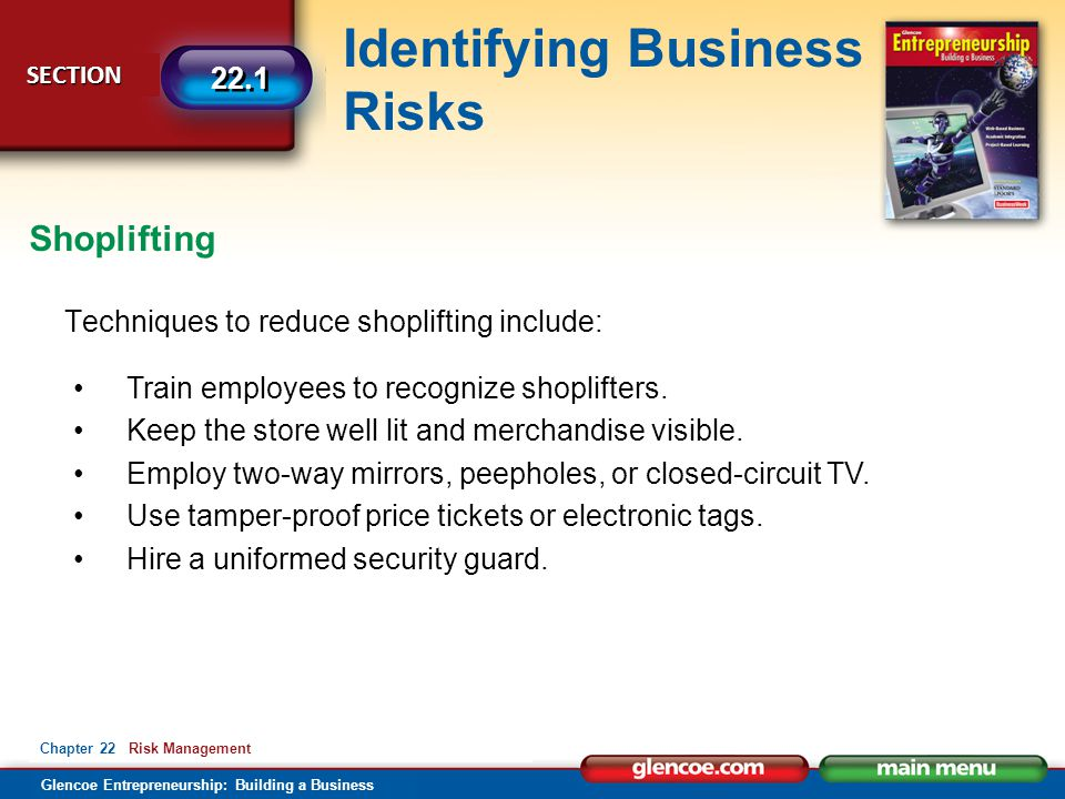 Shoplifting Techniques to reduce shoplifting include: