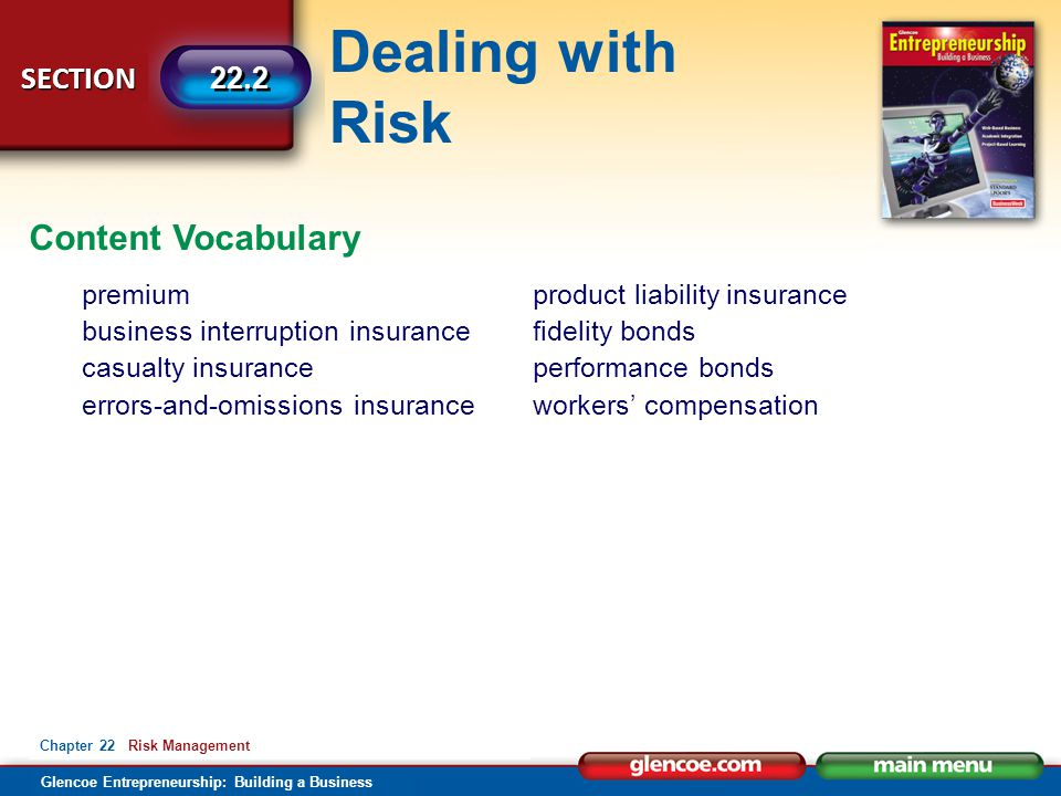 Content Vocabulary premium business interruption insurance
