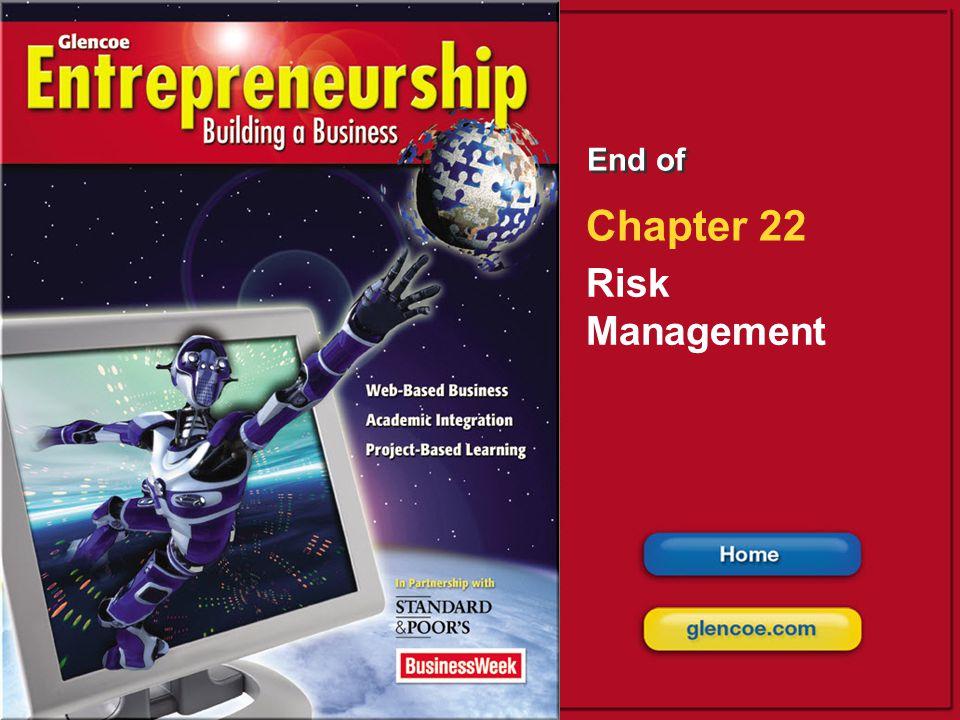 End of Chapter 22 Risk Management