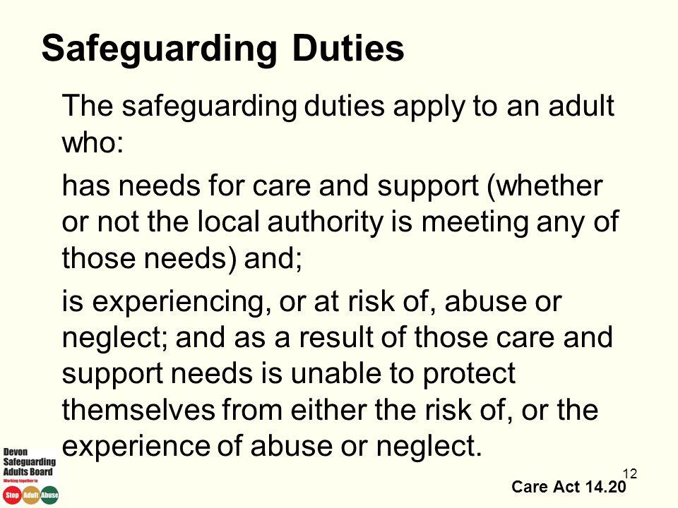 13/04/2017 Safeguarding Duties.