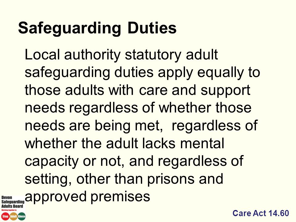 Safeguarding Duties