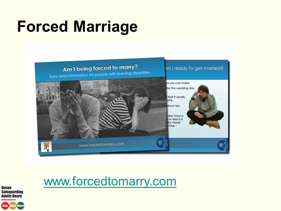 Forced Marriage www.forcedtomarry.com