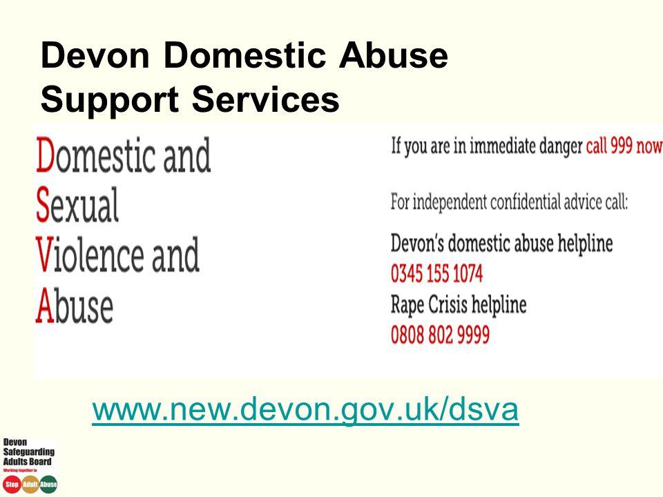 Devon Domestic Abuse Support Services