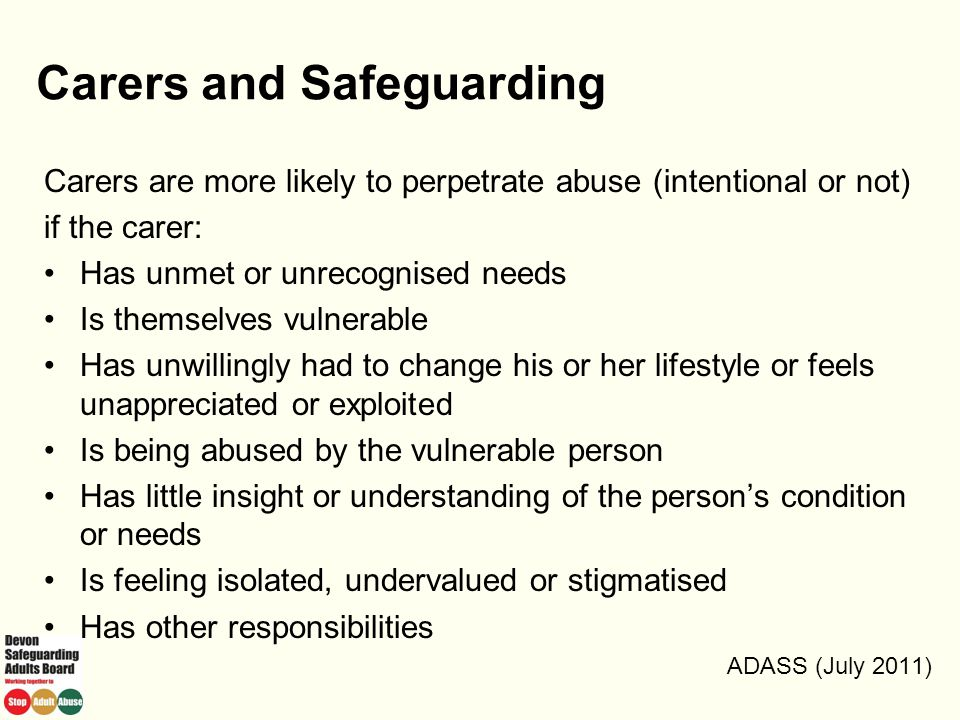 Carers and Safeguarding