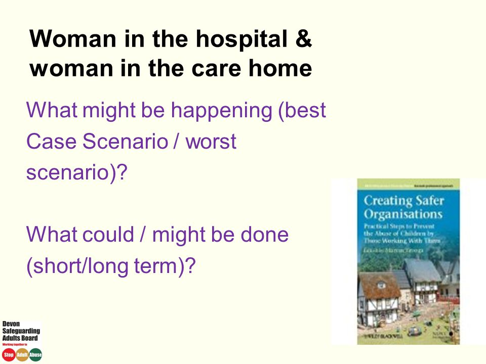Woman in the hospital & woman in the care home
