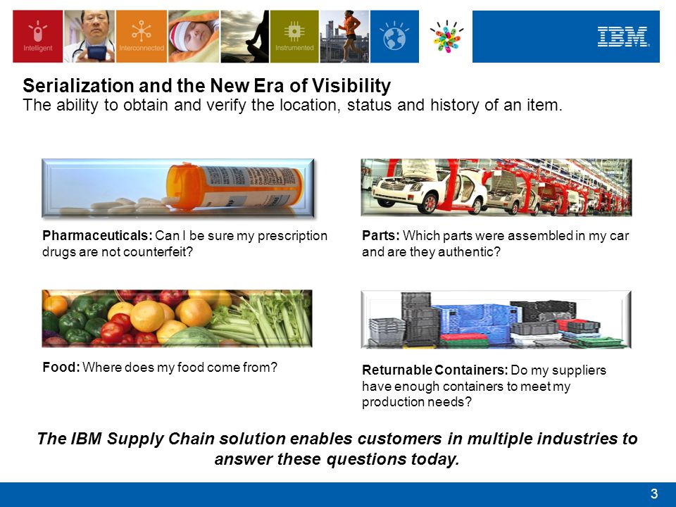 Serialization and the New Era of Visibility The ability to obtain and verify the location, status and history of an item.