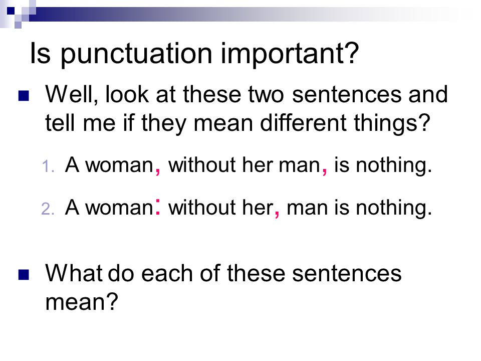 Is punctuation important