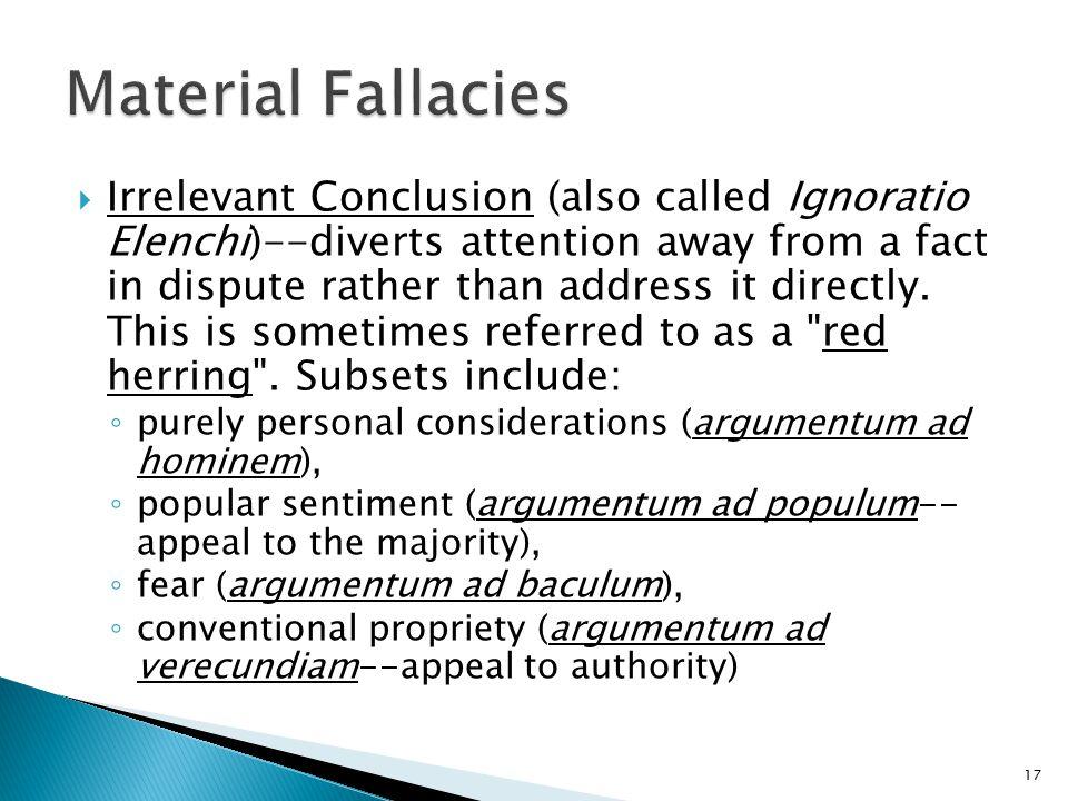 Material Fallacies