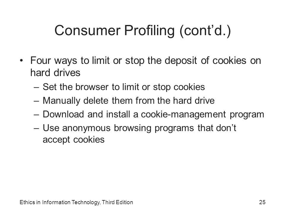 Consumer Profiling (cont'd.)