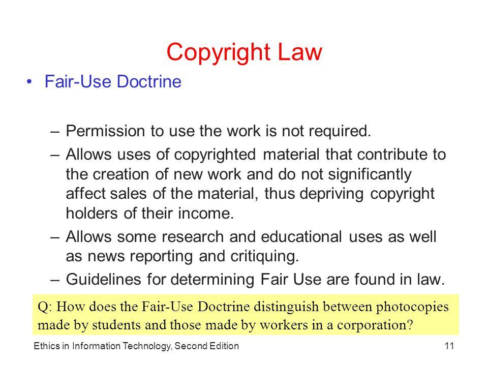 Copyright Law Fair-Use Doctrine