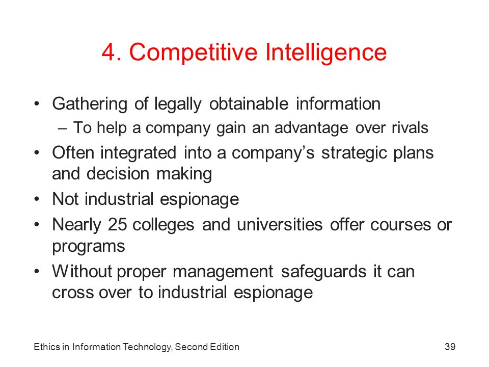 4. Competitive Intelligence
