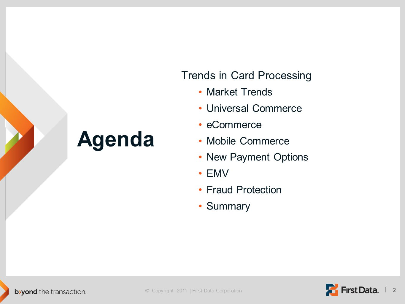 Agenda Trends in Card Processing Market Trends Universal Commerce