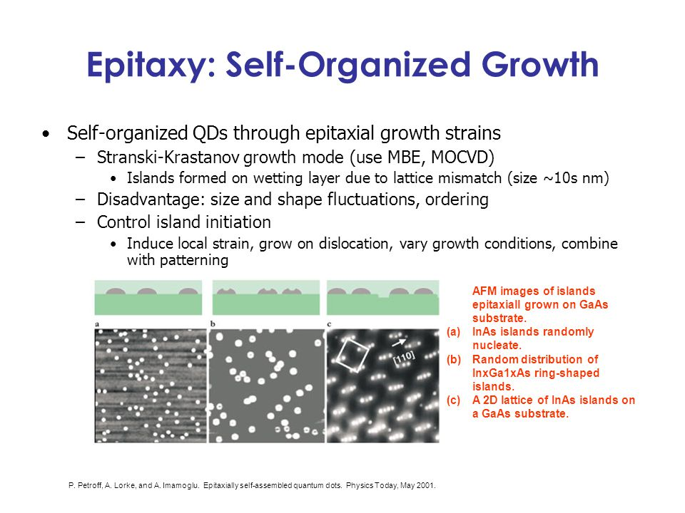 Epitaxy: Self-Organized Growth