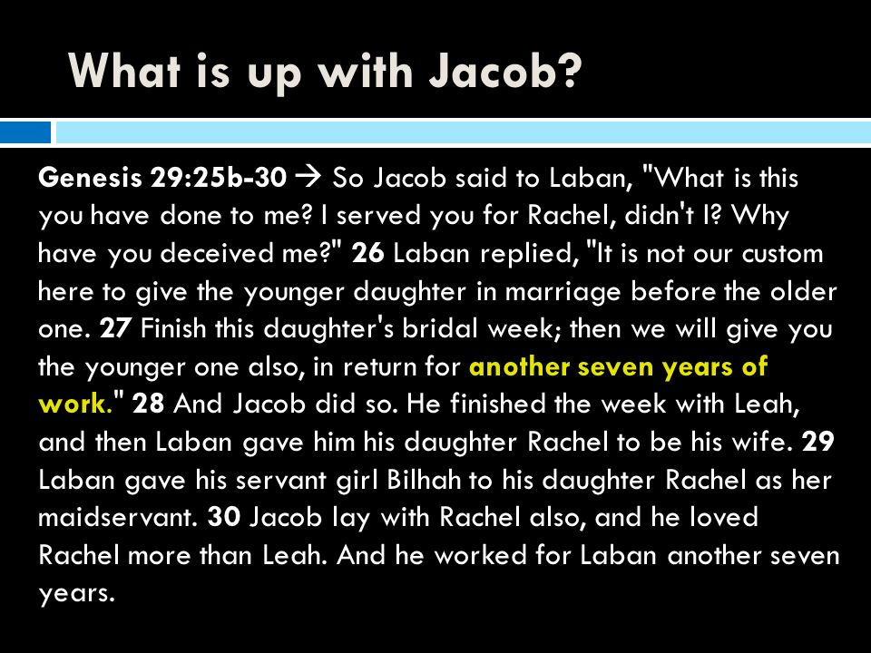 What is up with Jacob