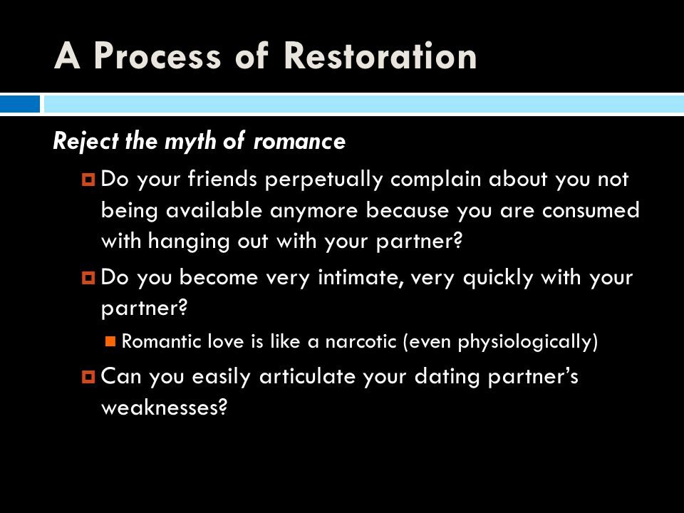 A Process of Restoration