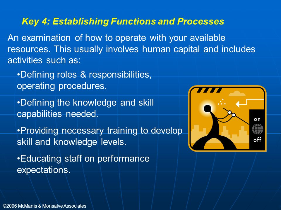 Key 4: Establishing Functions and Processes