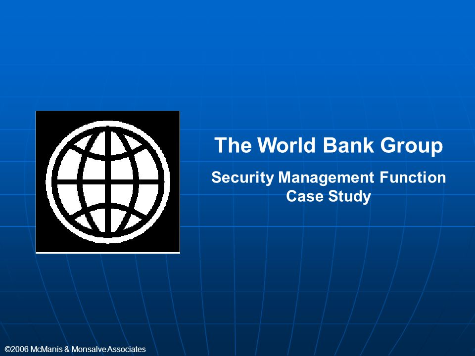 Security Management Function Case Study