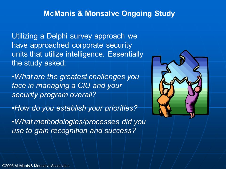 McManis & Monsalve Ongoing Study