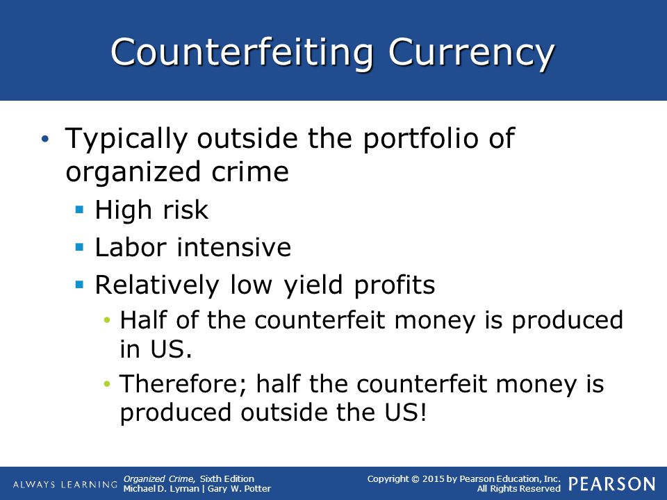 Counterfeiting Currency