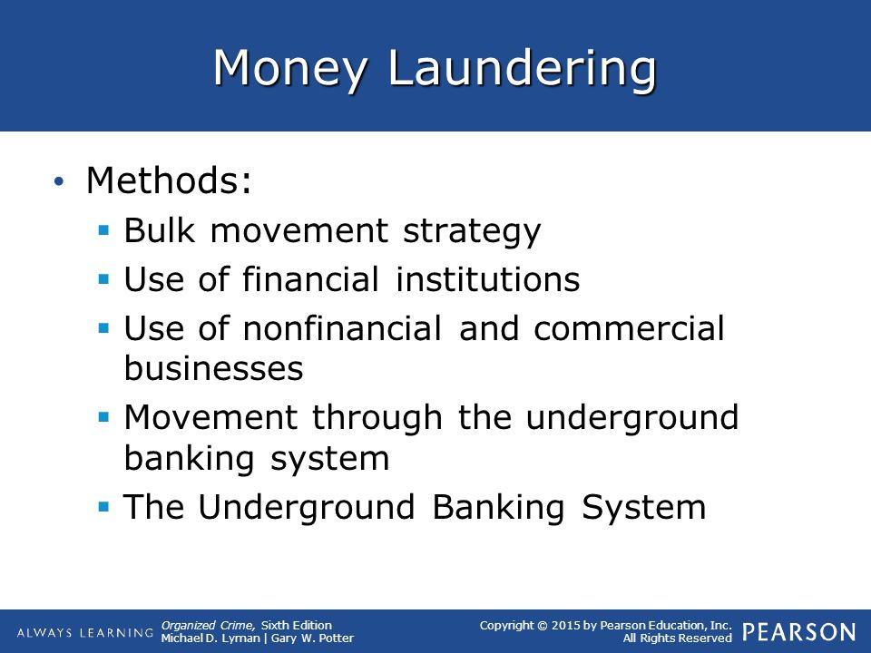 Money Laundering Methods: Bulk movement strategy