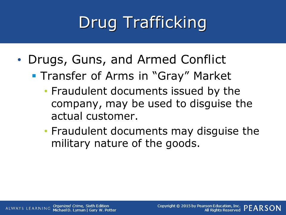Drug Trafficking Drugs, Guns, and Armed Conflict