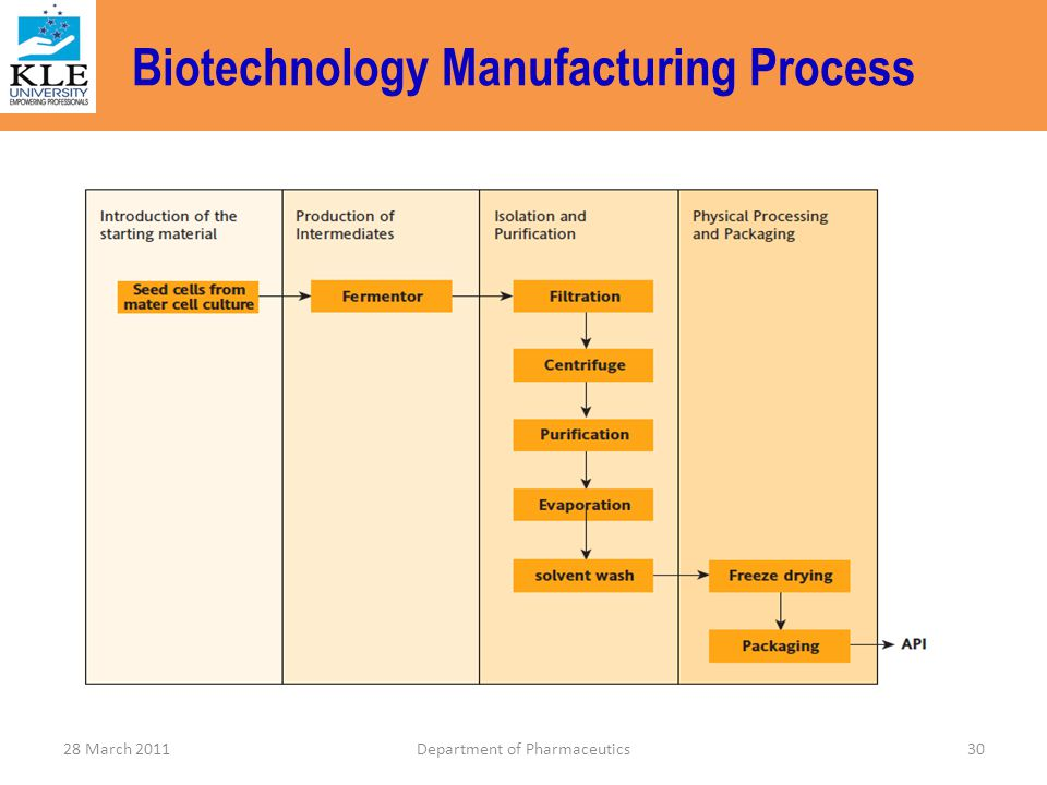 Biotechnology Manufacturing Process