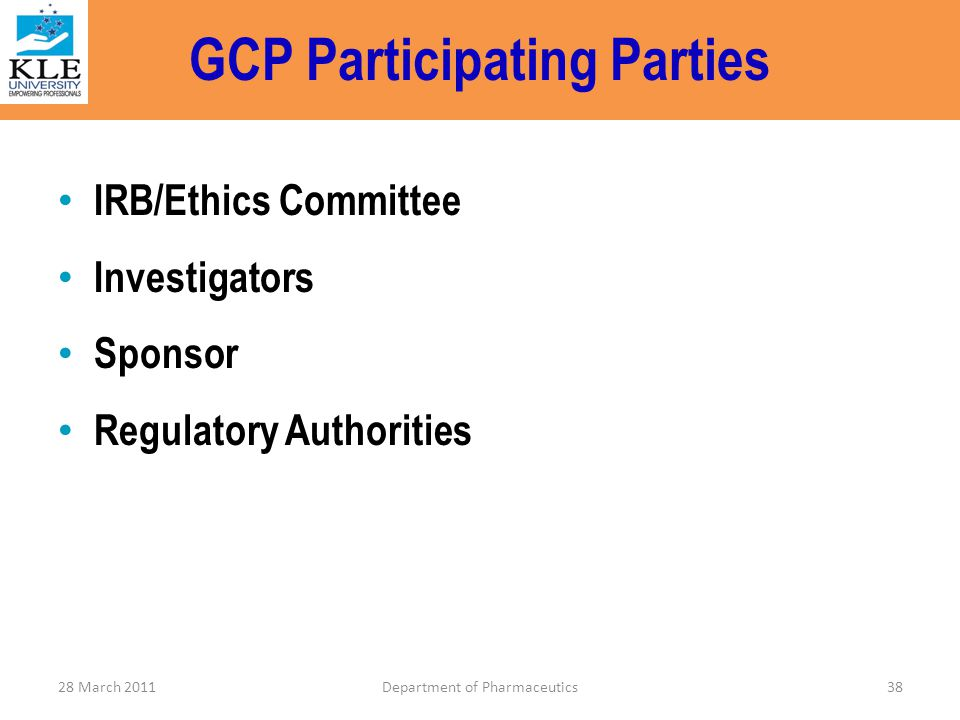 GCP Participating Parties