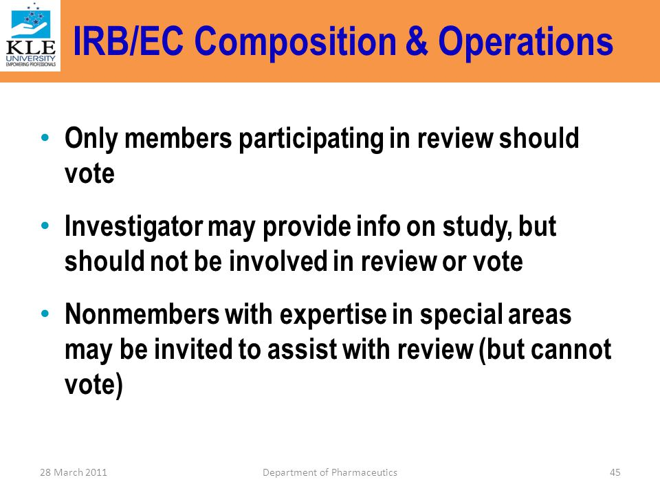 IRB/EC Composition & Operations