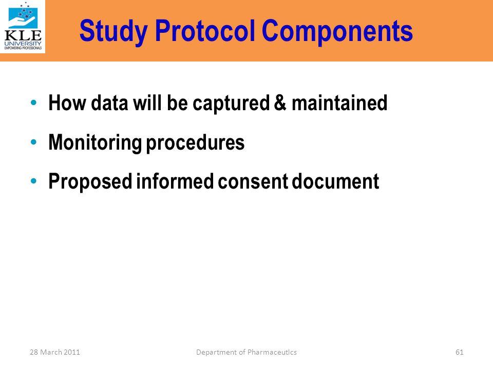 Study Protocol Components