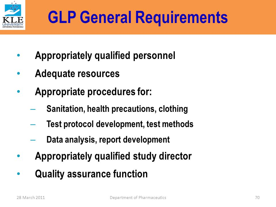 GLP General Requirements