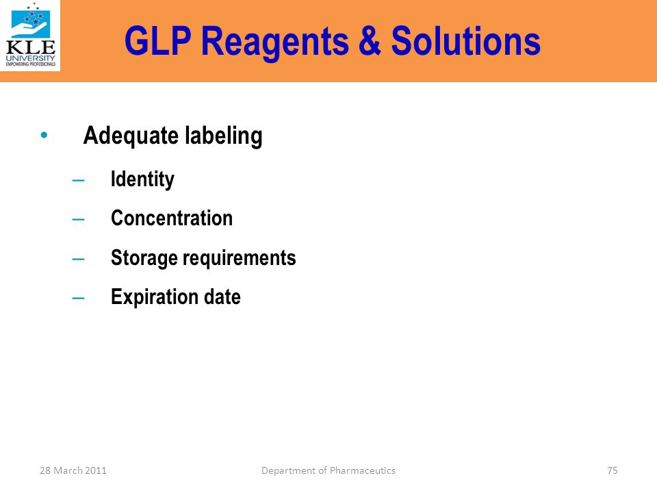 GLP Reagents & Solutions