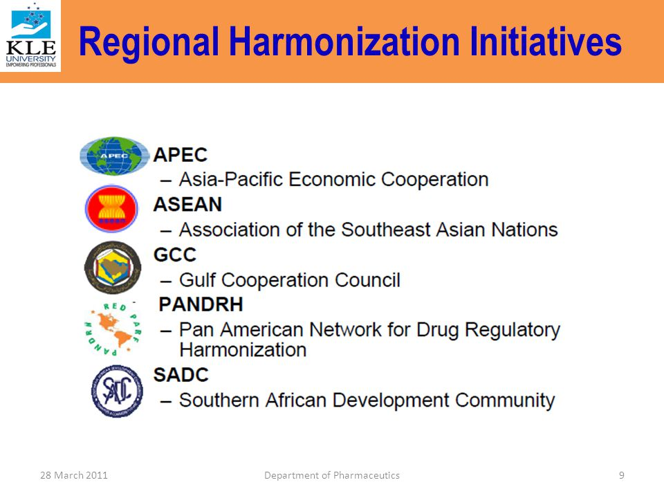 Regional Harmonization Initiatives