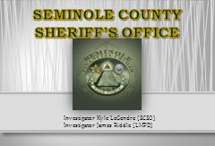 SEMINOLE COUNTY SHERIFF'S OFFICE