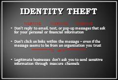 IDENTITY THEFT WARNING WARNING WARNING