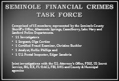 SEMINOLE FINANCIAL CRIMES TASK FORCE