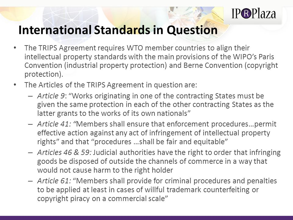 International Standards in Question