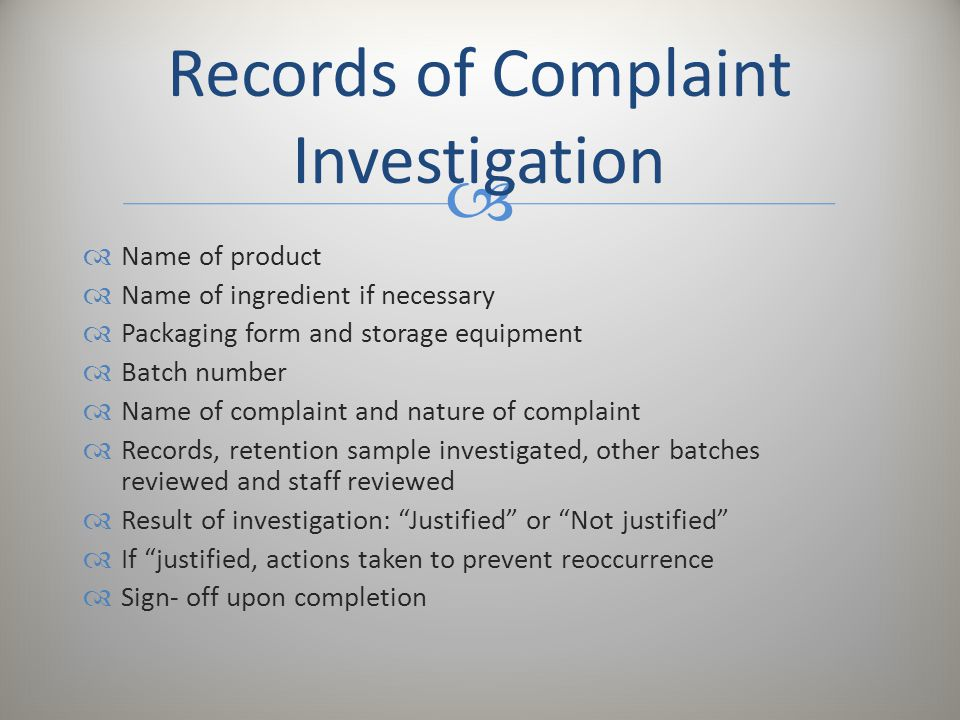 Handling Of Consumer/Product Complaint - Ppt Video Online Download