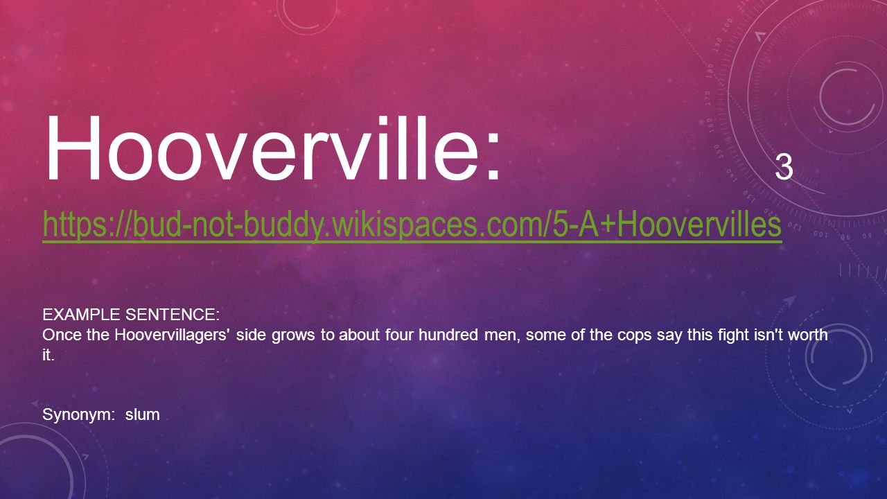 Hooverville: 3 https://bud-not-buddy.wikispaces.com/5-A+Hoovervilles