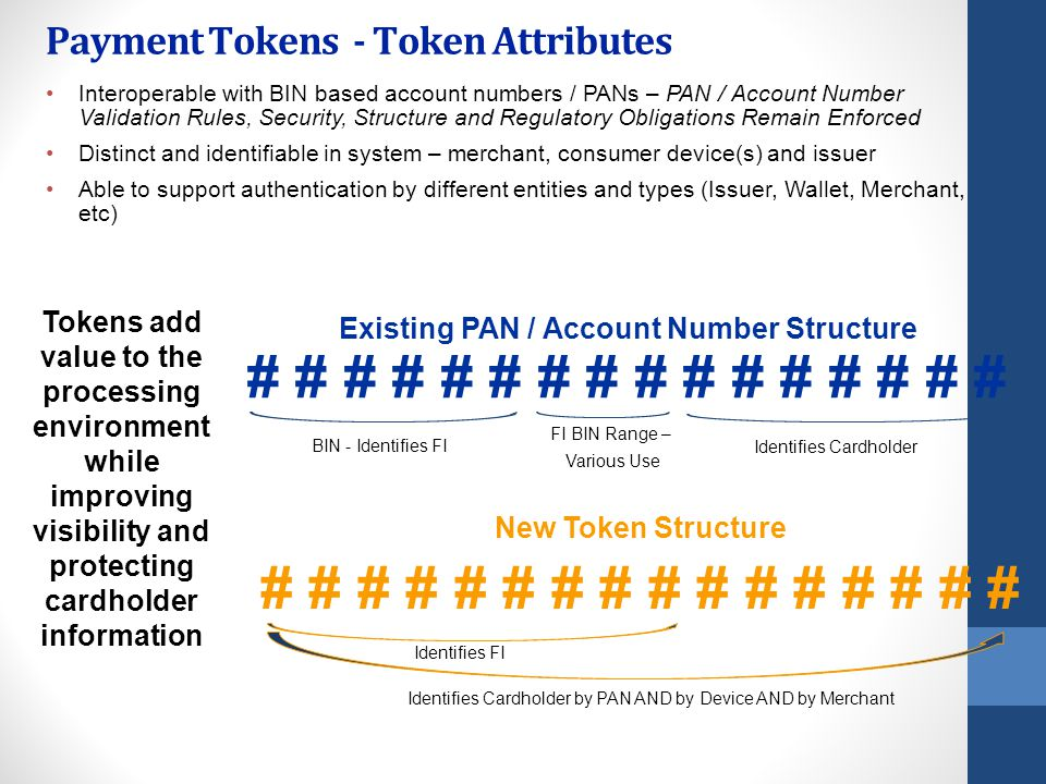 Payment Tokens - Token Attributes