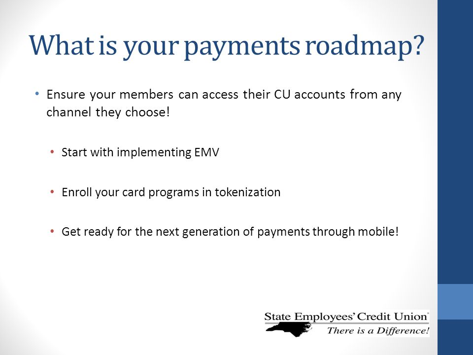 What is your payments roadmap