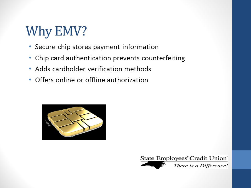 Why EMV Secure chip stores payment information